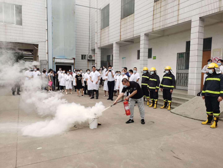 我院開展消防安全應急演練