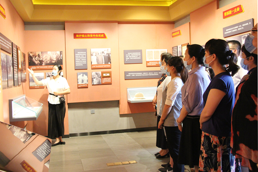 濱州市人民醫院第一黨支部、第四黨支部到楊柳雪懷周祠紅色基地參觀學習